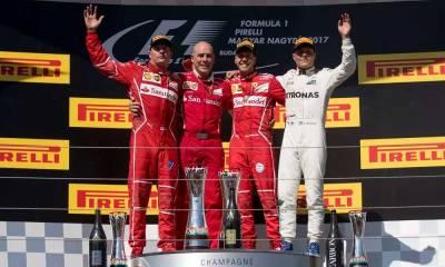 Vettel comanda dobradinha da Ferrari em Budapeste e amplia liderança
