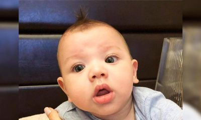 """""""Papai, tô de topete"""": Gusttavo Lima compartilha clique fofo de Gabriel com moicano"""