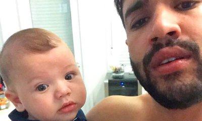 Gusttavo Lima compartilha clique amoroso ao lado de Gabriel
