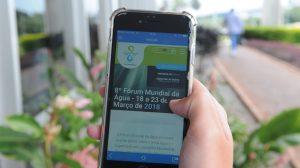 Aplicativo do 8º Fórum Mundial da Água está disponível para IOS e Android