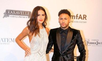 Bruna e Neymar roubam a cena no baile da amfAR