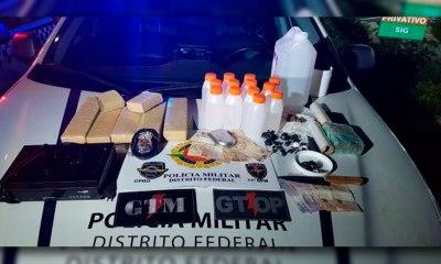 Polícia prende dois traficantes e apreende mais de sete quilos de maconha no DF