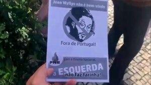 Ex-deputado Jean Wyllys é recebido com protestos em Portugal