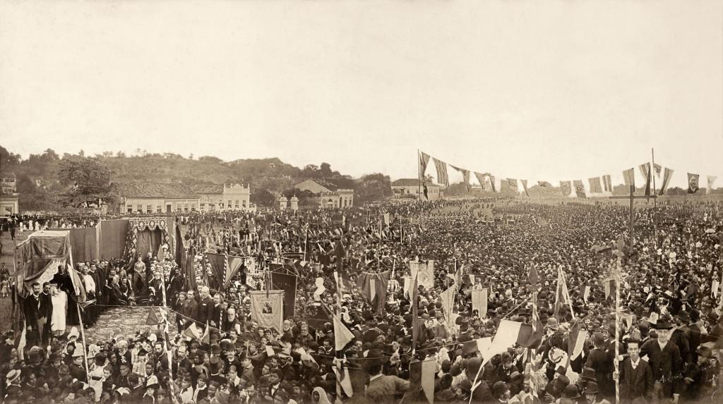 Antonio Luiz Fereira. Missa campal celebrada em ação de graças pela Abolição da Escravatura no Brasil, 1888. São Cristóvão, Rio de Janeiro.