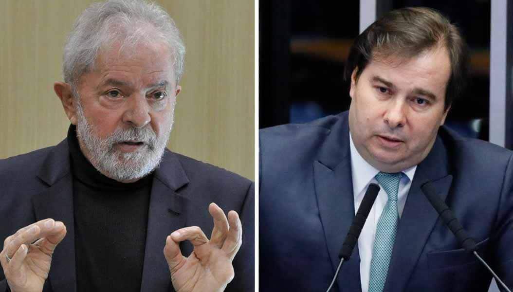 Lula conversa com Rodrigo Maia sobre união com centro-direita em 2022