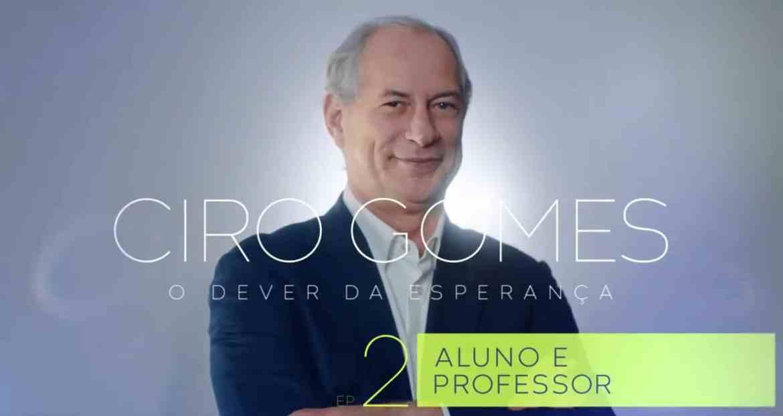 Novo vídeo biográfico conta experiência de Ciro Gomes como aluno e professor