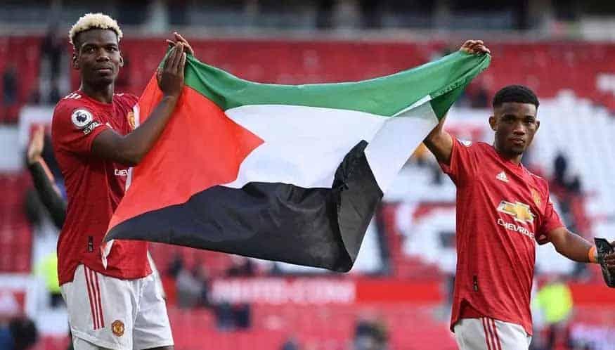 Conflito em Gaza: jogador do Manchester United, Pogba homenageia Palestina
