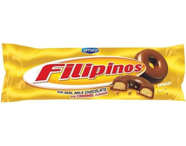 fotos Biscoito Filipinos Chocolate e Caramelo 135g