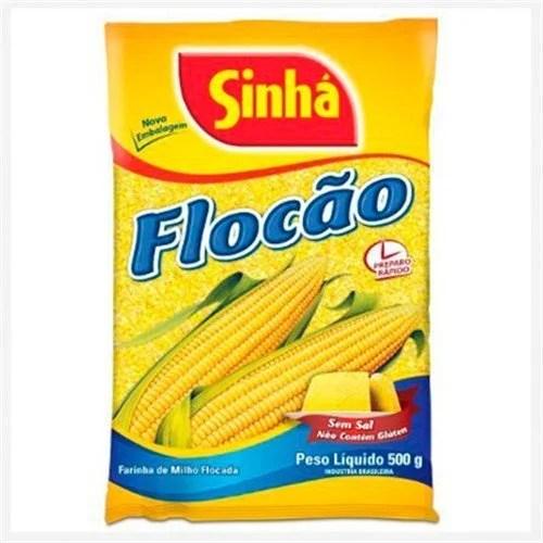 foto Farinha de Milho Flocão cuscuz Sinha 500g