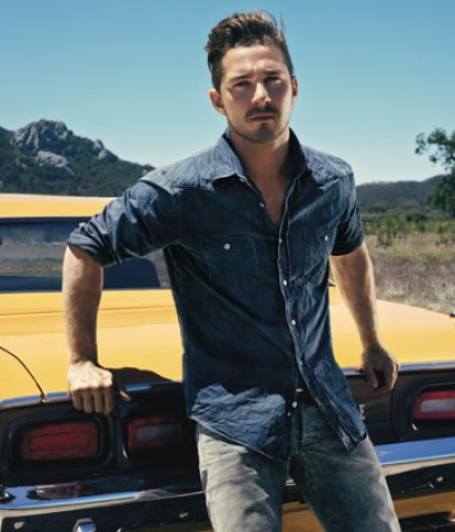 Shia LaBeouf Chest and Biceps Size