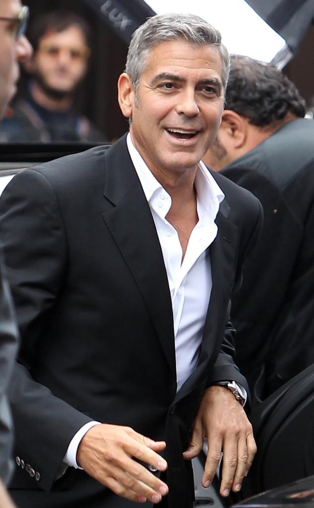 George Clooney Biceps Size