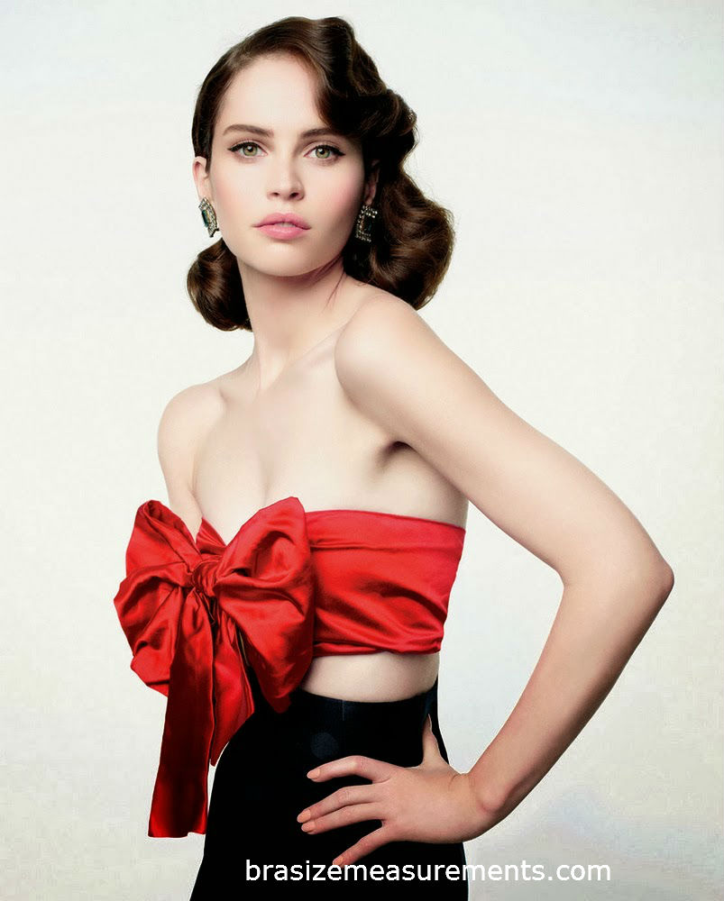 Felicity Jones Bra Size