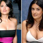 Salma Hayek Boob Job Surgery Before and After