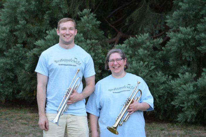 Rona and Zach after the Brassapalooza concert, 2016