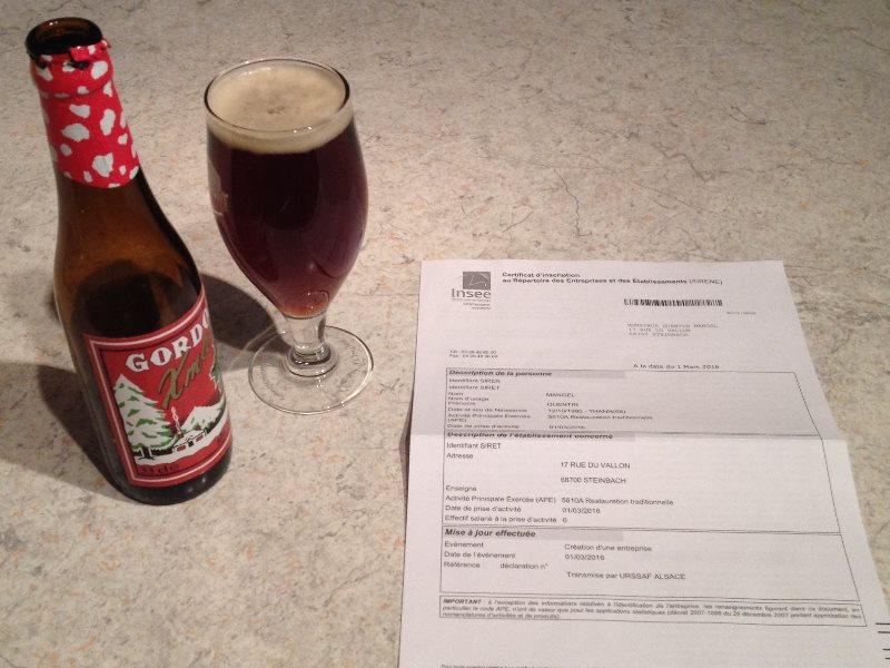 Les papiers de l'URSAFF sont enfin arrivés, mon auto-entreprise est officiellement créée, il faut donc fêter ça, avec une bière naturellement ;)