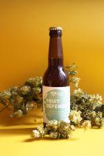 Fruit défendu IPA - photo étiquette de bière - Brasserie du Vallon - micro-brasserie artisanale d'Alsace