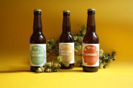 Photo de groupe étiquettes bière avec houblon - Micro-Brasserie du Vallon Alsace