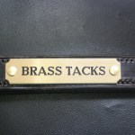 Brass Nameplate (Scalloped)