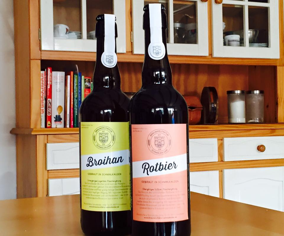 Broihan und Rotbier in Kueche
