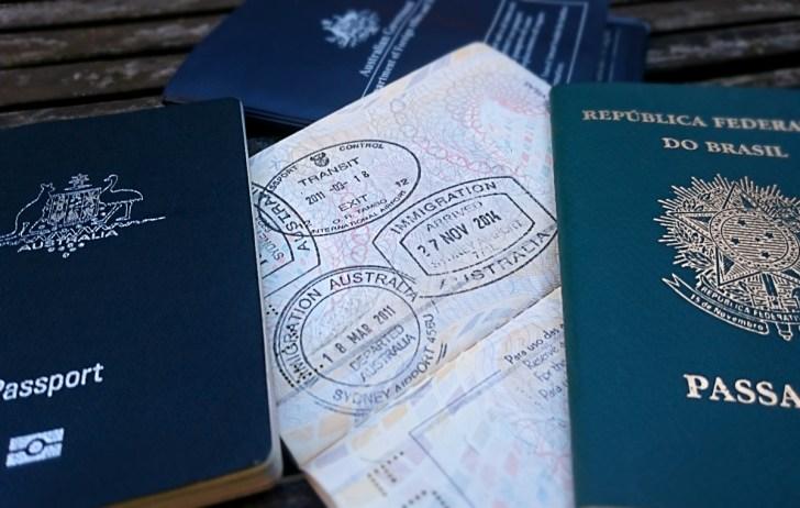 perder passporte na Austrália