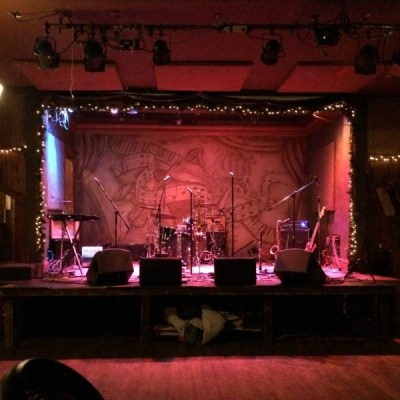 Brave Combo's Stage Set Up at FitzGerald's