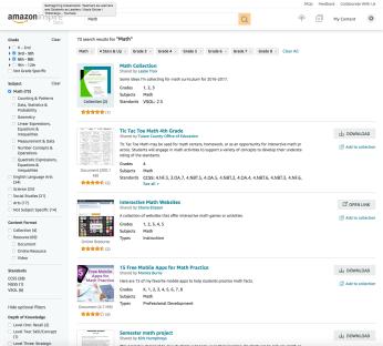 Amazon Inspire site