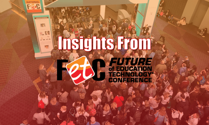 Text: Insights from FETC and people entering the keynote