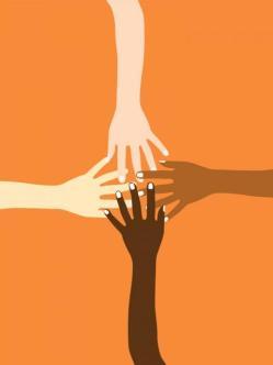 4 multicultural hands