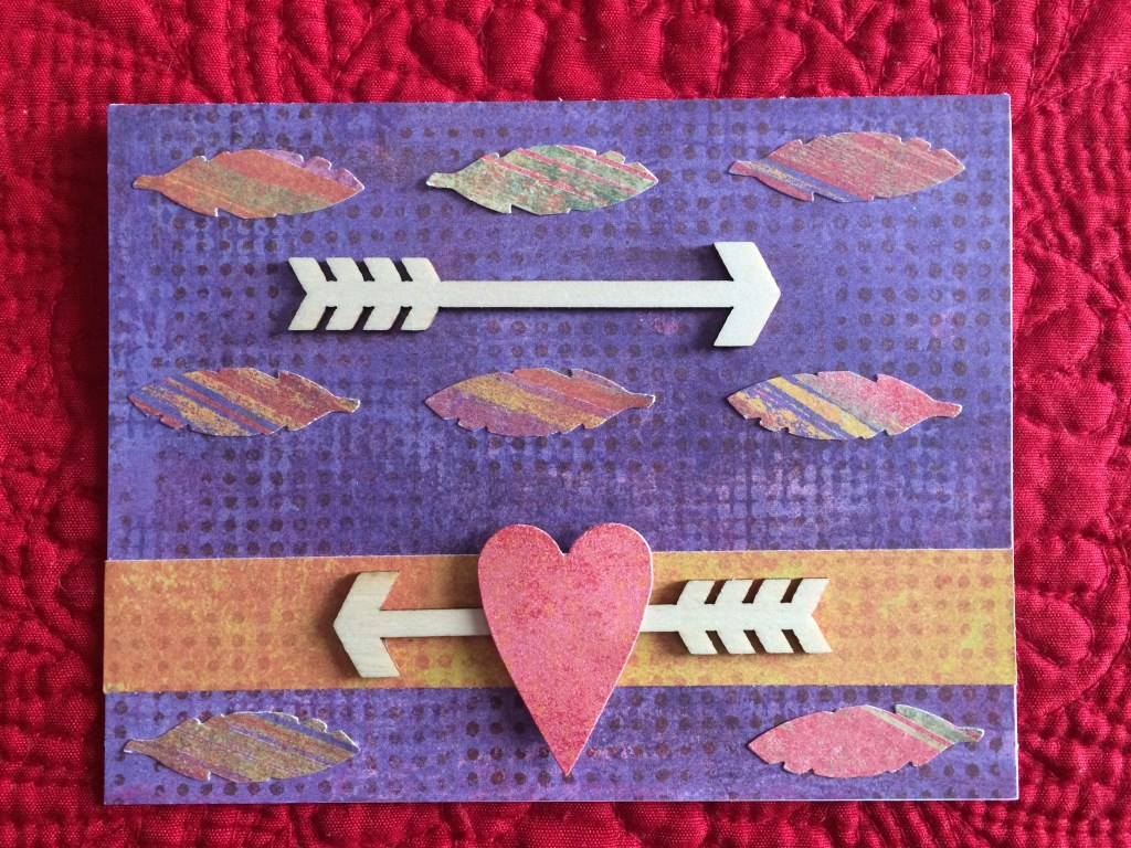 Bohemian Valentine's Day cards-Arrows and Feathers