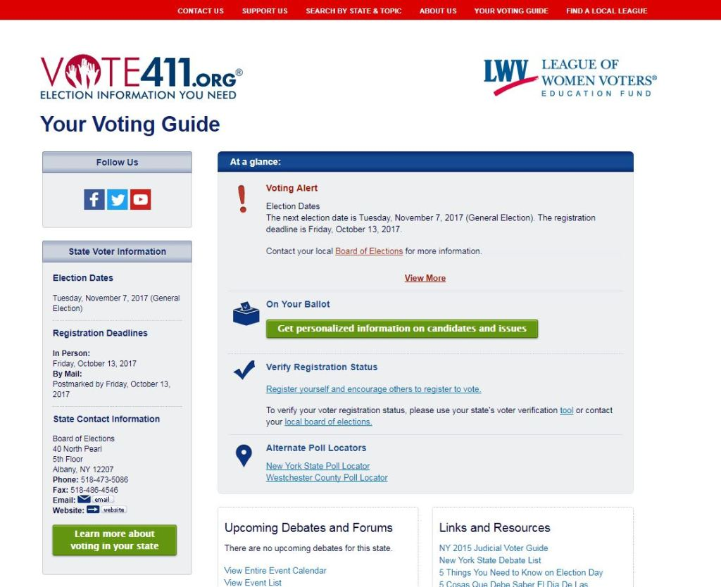 What's On My Ballot Tool Vote411