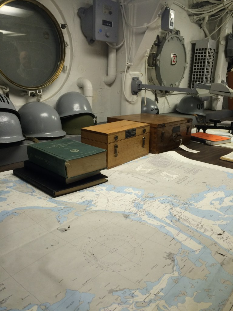 USS Wisconsin Navigation Room Iowa class battleships