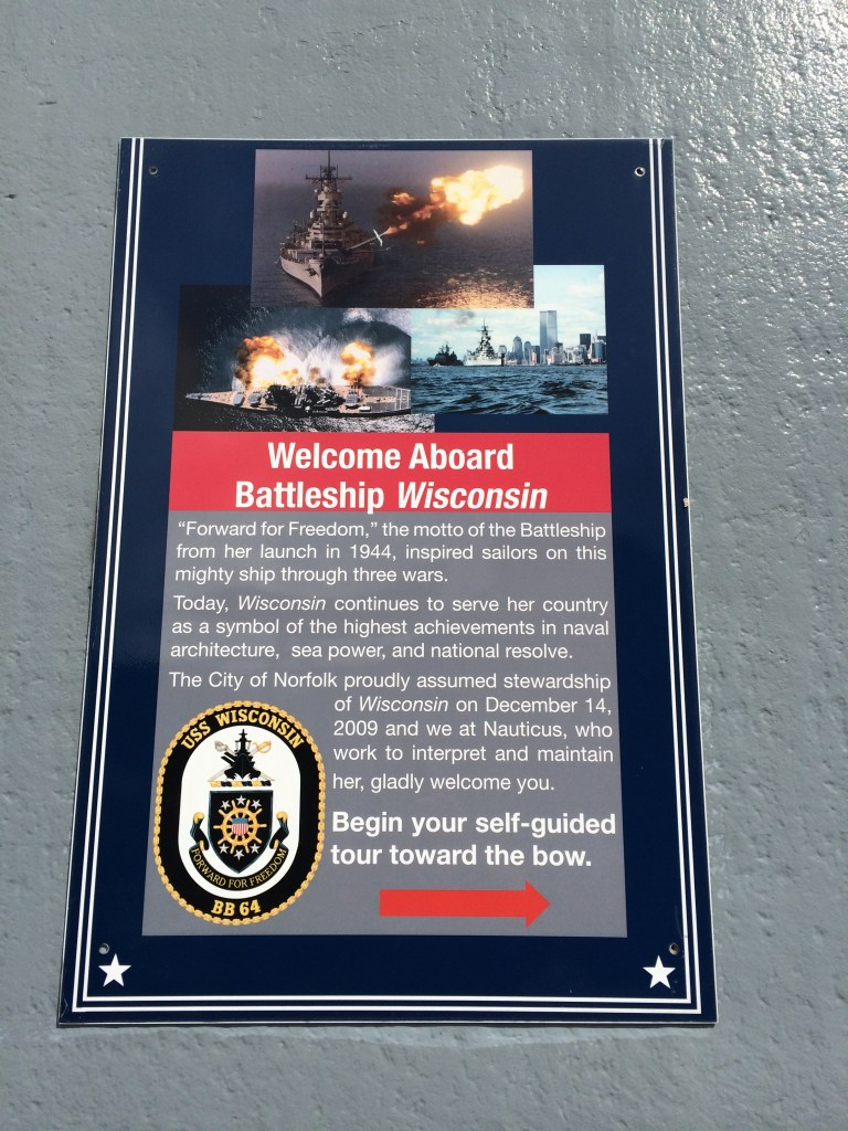 USS Wisconsin_Battleship_Tour_sign