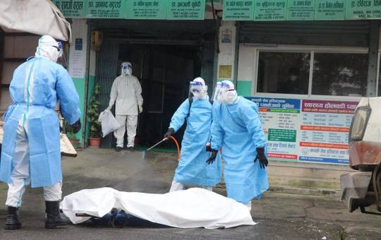 Two die of corona infection in Okhaldhunga