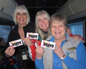 brave ski moms on the mount hood meadows bus