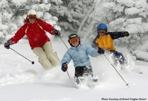 family skiing at grand targhee