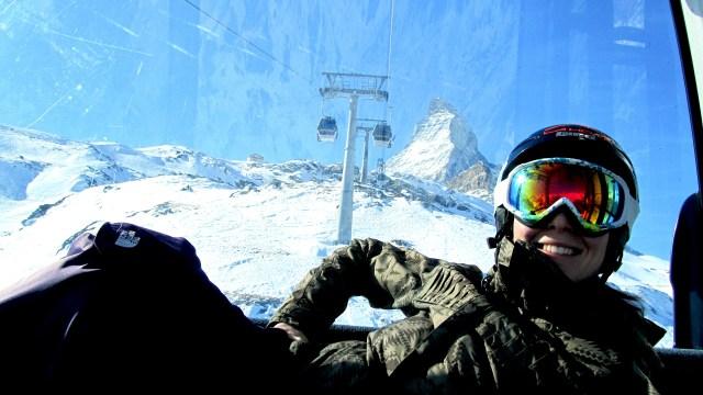 A photo of Unbound author steph jagger in front of the matterhorn at zermatt