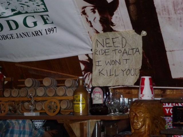 Behind the bar at the Alta Peruvian. So Alta, I love it!