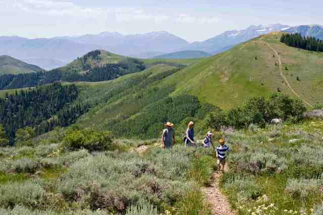 family hiking deer valley utah
