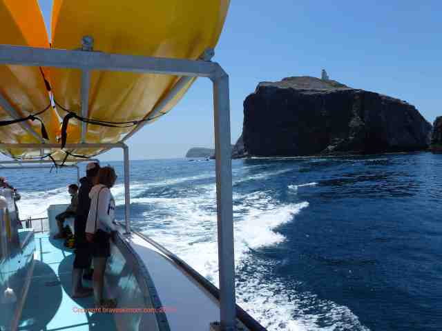 Taking a boat to Channel Islands national park