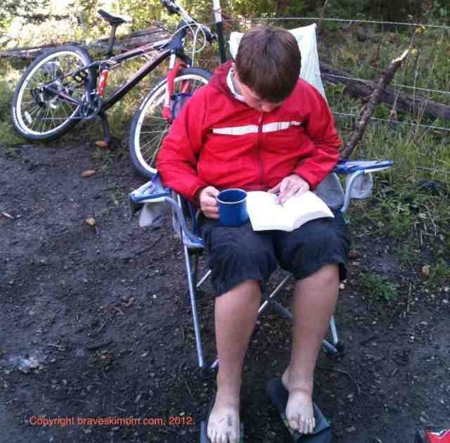 reading at camp