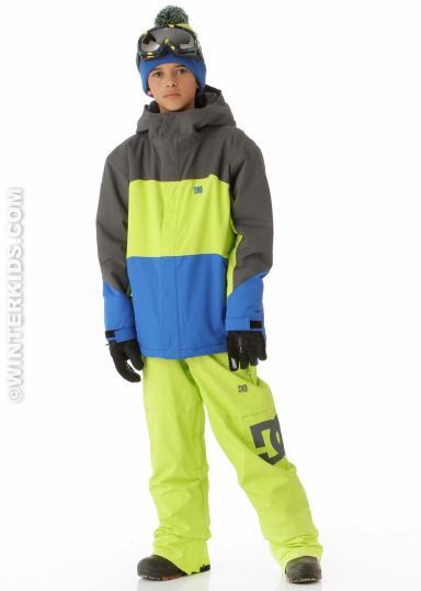 DC Boys Amo Jacket Shadow Lime True Blue winterkids.com