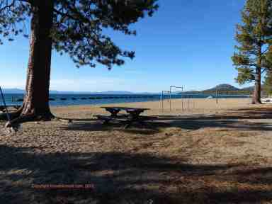 tahoe beach winter