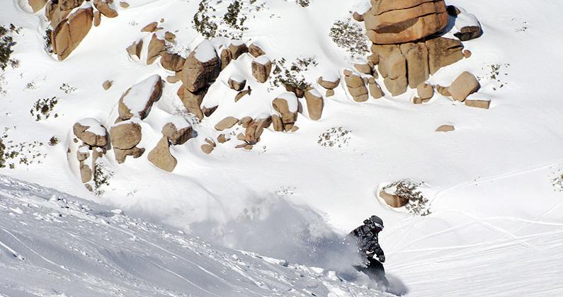 the ridge snow valley