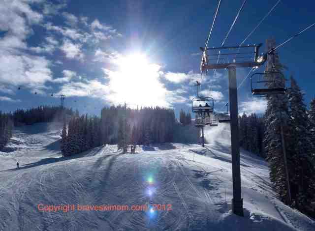light on aspen mountain