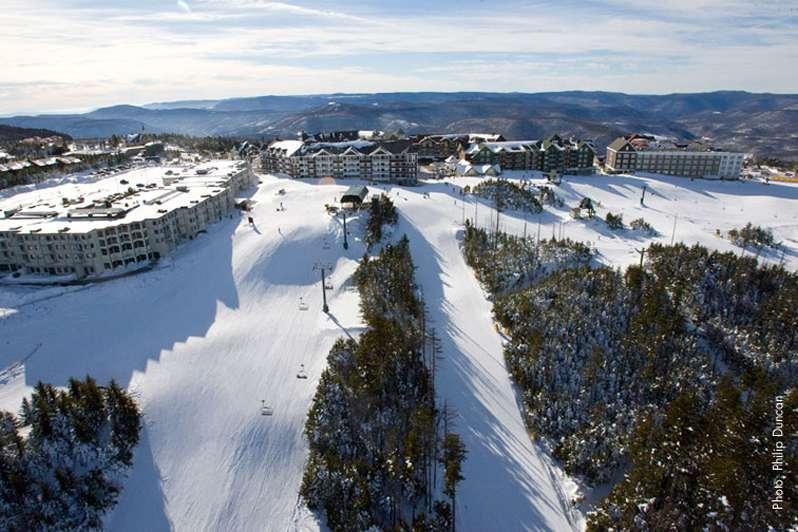 snowshoe ski runs