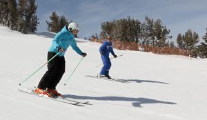 heavenly women's ski lesson