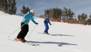 heavenly women's ski lesson