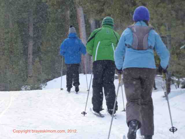 family cross country skiing eldora colorado