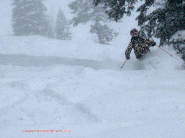 Perfect powder day buttermilk colorado