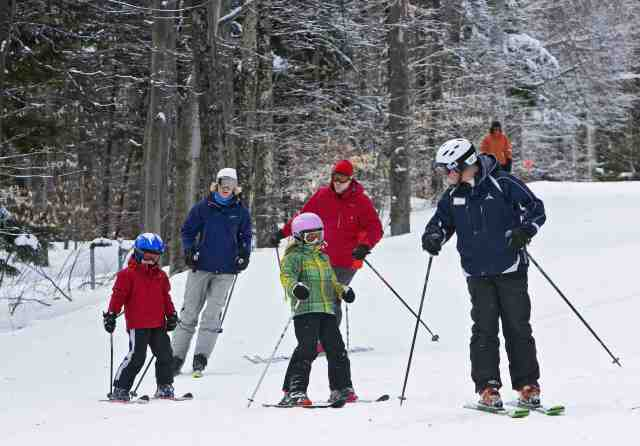 whiteface lake placid new york family ski lesson